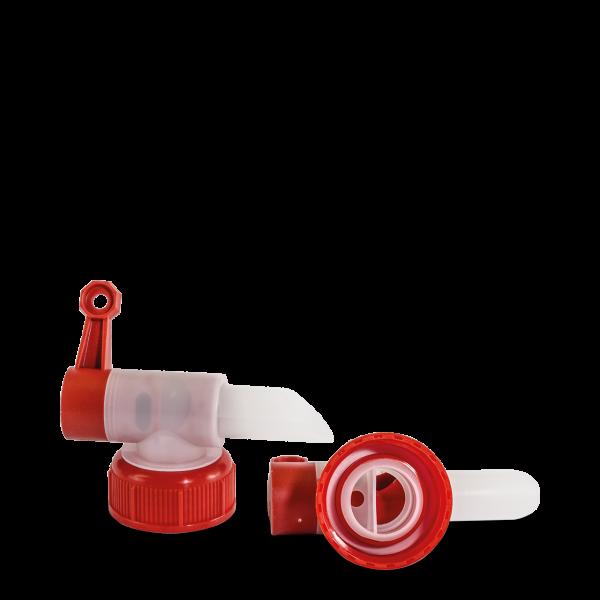 Auslaufhahn rot für 2,5 L Kanister